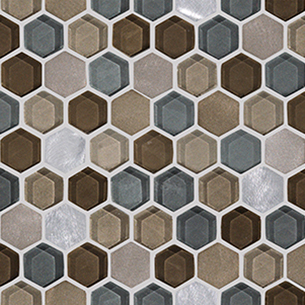 LANTIC COLONIAL  L241711091 Fusion Hexagon Caramel Mix