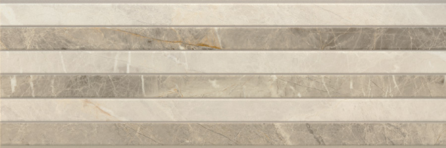 PORCELANITE DOS  9520 Rect Gris Relieve