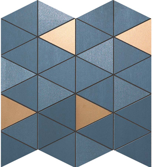 ATLAS CONCORDE  Mek Blue Mosaico Diamond Gold Wall