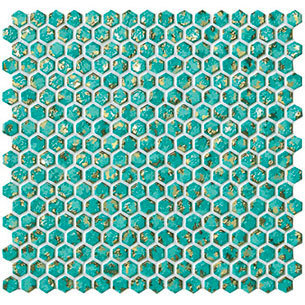 Dwell Turquoise Hexagon Gold