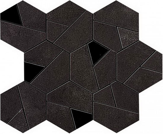 Boost Tarmac Mosaico Hex Black