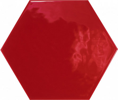 Hexatile Rojo Brillo