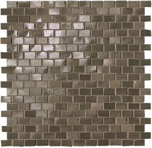 Brickell Brown Brick Mosaico Gloss