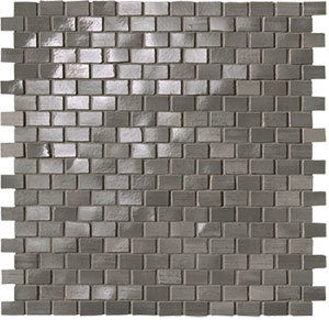Brickell Grey Brick Mosaico Gloss