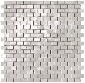 Brickell White Brick Mosaico Gloss